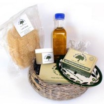 Handwoven Gift Basket – Our Olive Assortment